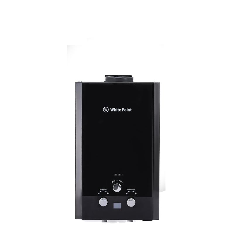 White Point Gas Water Heater in Black Glass Color WPGWH10LGB