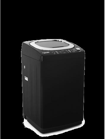 White Point Top loading Washing Machine 13 KG GRANDO Digital Screen - Diamond Drum - Soft Close Glass Door & anti-rust galvanized metal body in Black Color WPTL13DGBCM