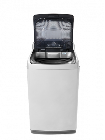 White Point Top loading Washing Machine 13 KG GRANDO DUO Digital Screen - Diamond Drum - Soft Close Glass Door & anti-rust galvanized metal body Silver WPTL13DGSMT