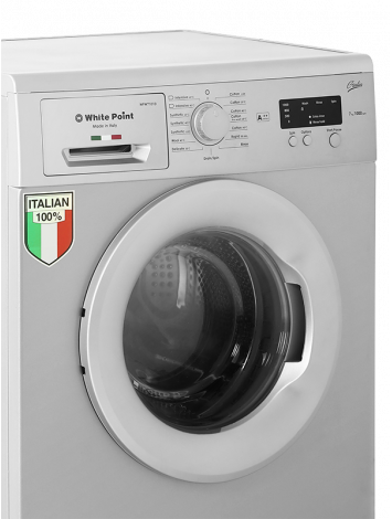 White Point Front Load Full Automatic Washing Machine 7 KG Guilia 100% Italian in Silver Color WPW7101GDS