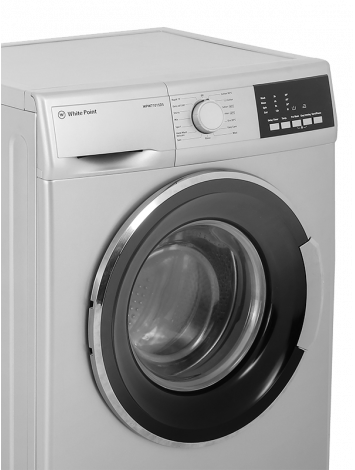 White Point Front Load Full Automatic Washing Machine 7 KG in Silver Color WPW7815PS